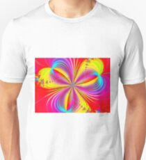 Red Colorful Flower Ribbons T-Shirt