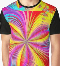 Red Colorful Flower Ribbons Graphic T-Shirt