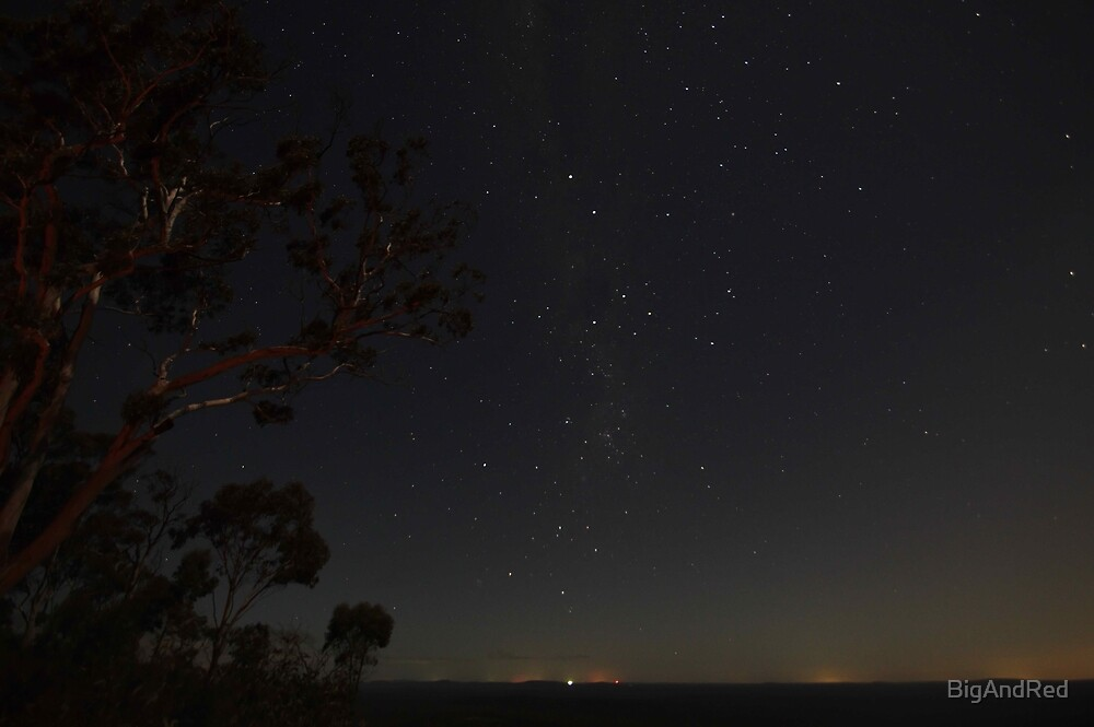 night sky looking south 2 by BigAndRed