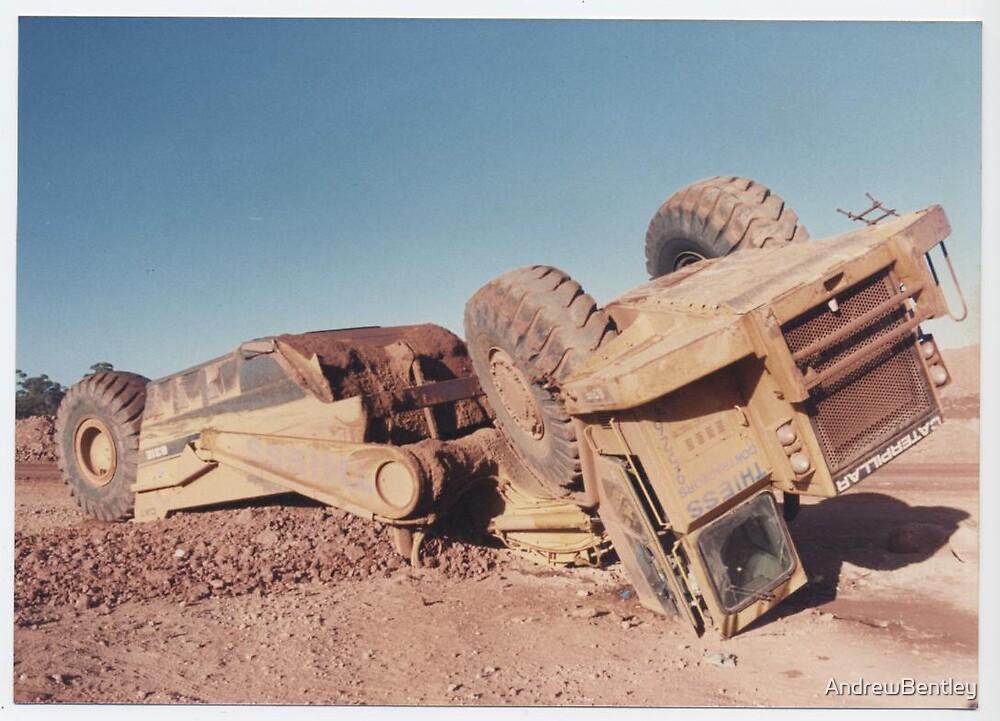 631 Cat scraper wheels up Higginsville 1994 by AndrewBentley