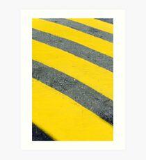 Yellow rings Art Print