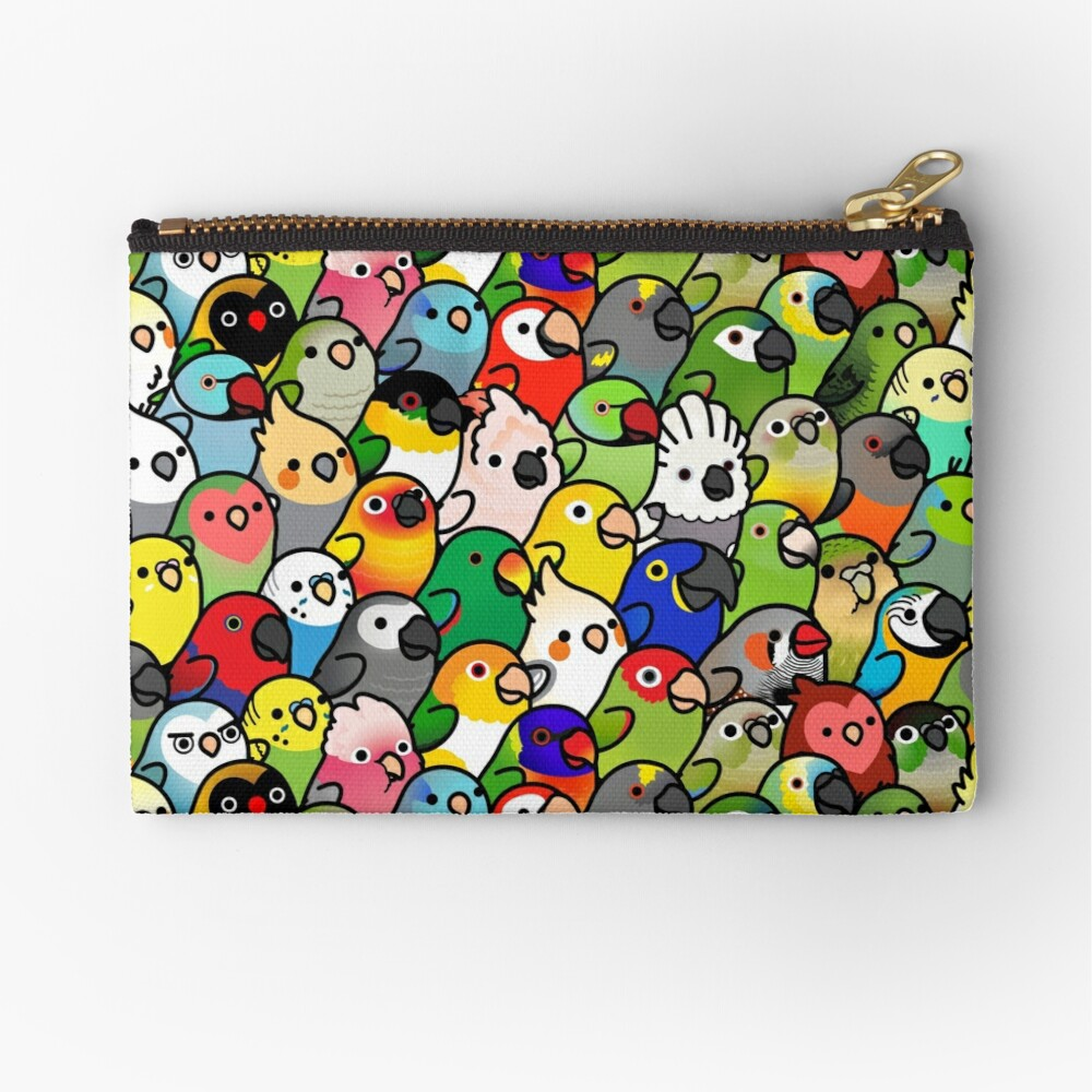 Everybirdy Pattern Zipper Pouch