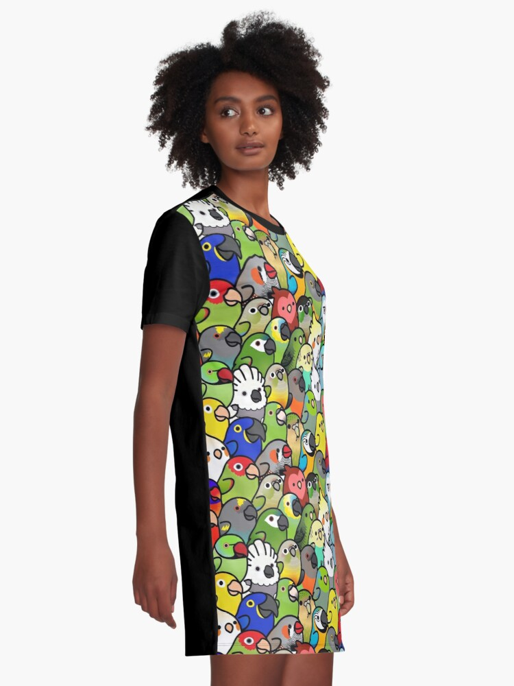 Alternate view of Everybirdy Pattern Graphic T-Shirt Dress