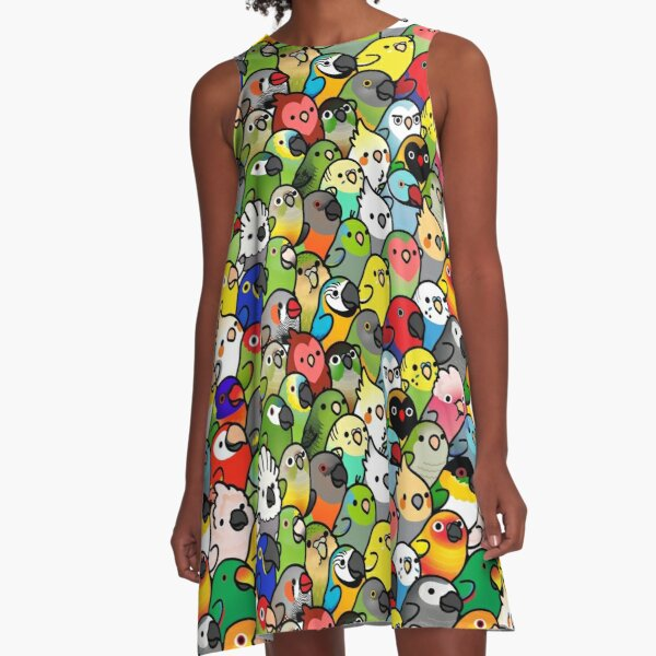 Everybirdy Pattern A-Line Dress