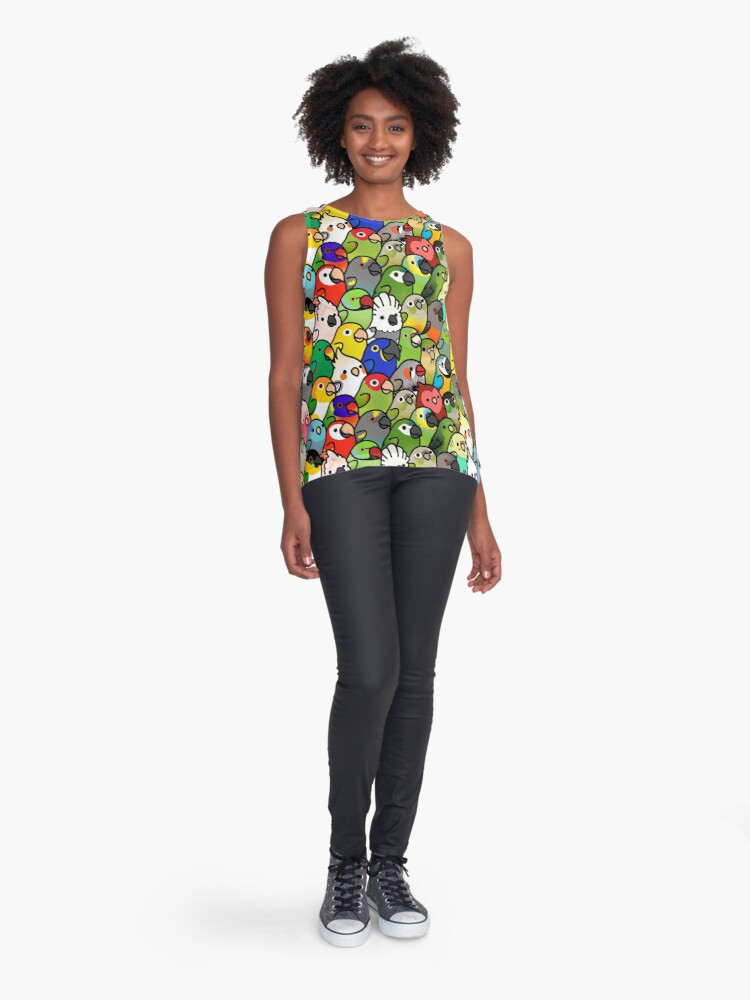 Alternate view of Everybirdy Pattern Sleeveless Top