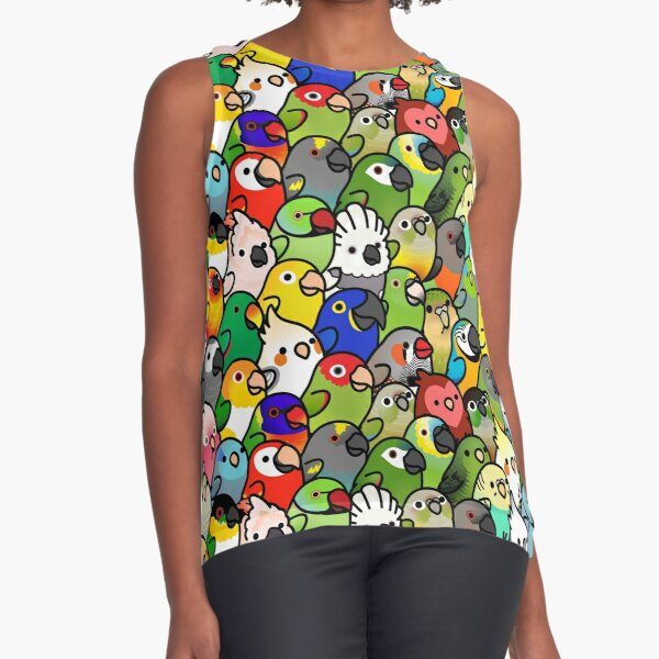 Everybirdy Pattern Sleeveless Top