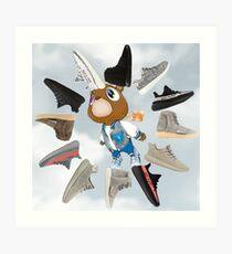 "Yeezy Graduation Clock v. ""Sky"" Art Print"