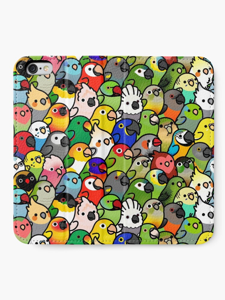 Alternate view of Everybirdy Pattern iPhone Wallet