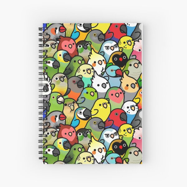 Everybirdy Pattern Spiral Notebook
