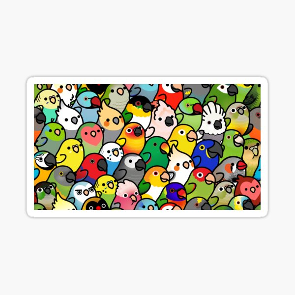 Everybirdy Pattern Sticker