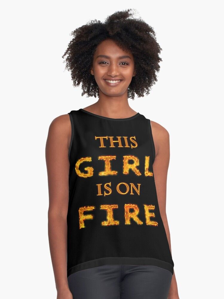 This Girl Contrast Tank Front