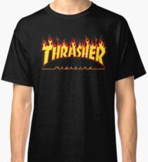 Thrasher Magazine - Awesome Flaming Skater Design Classic T-Shirt