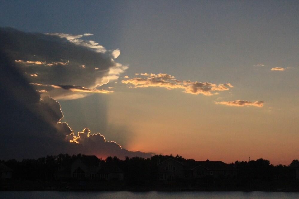 sunset in Nebraska by meenamorar