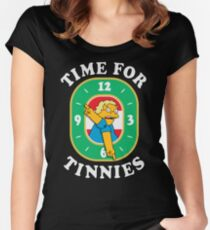 Time For Tinnies!  Women's Fitted Scoop T-Shirt