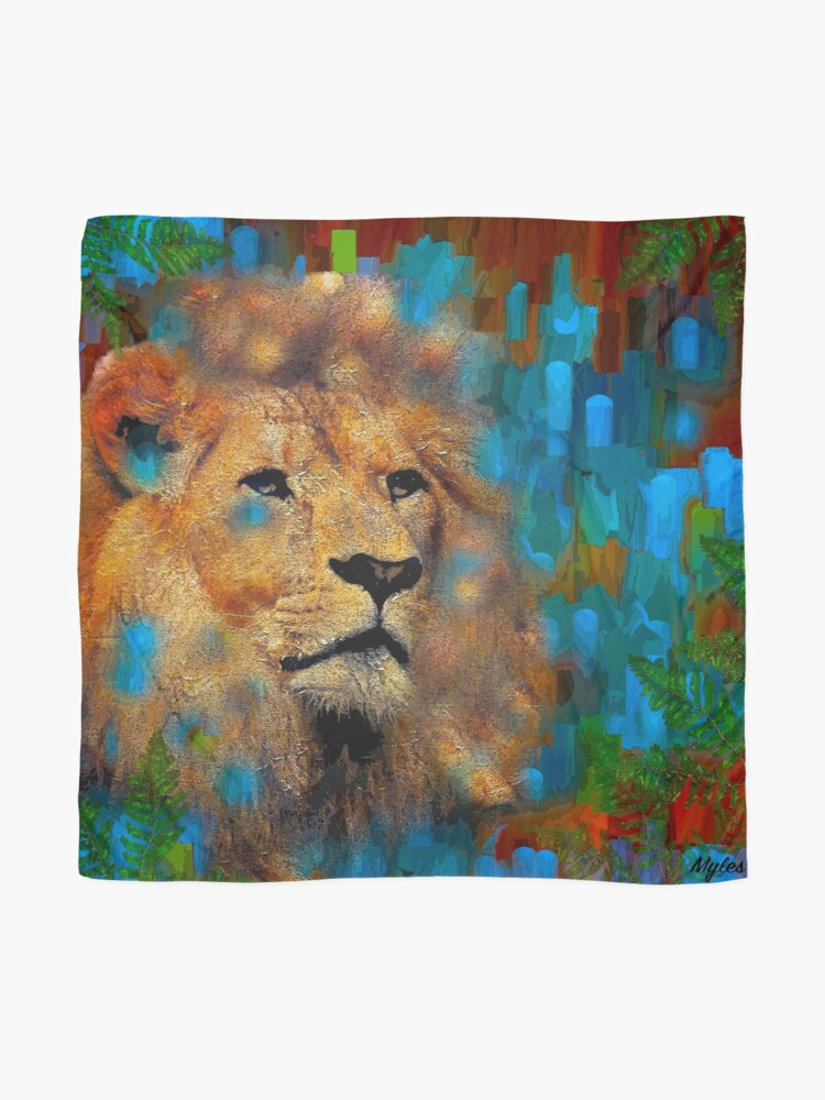 Alternate view of LION  Scarf