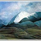 Craigeburn Mountain Range Canterbury New Zealand by Kaye Bel -Cher