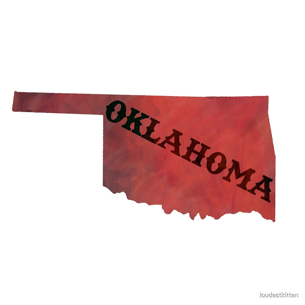Oklahoma - Watercolor by loudestkitten