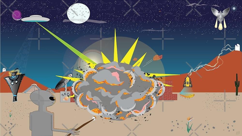 ET in the Desert by Tazyn