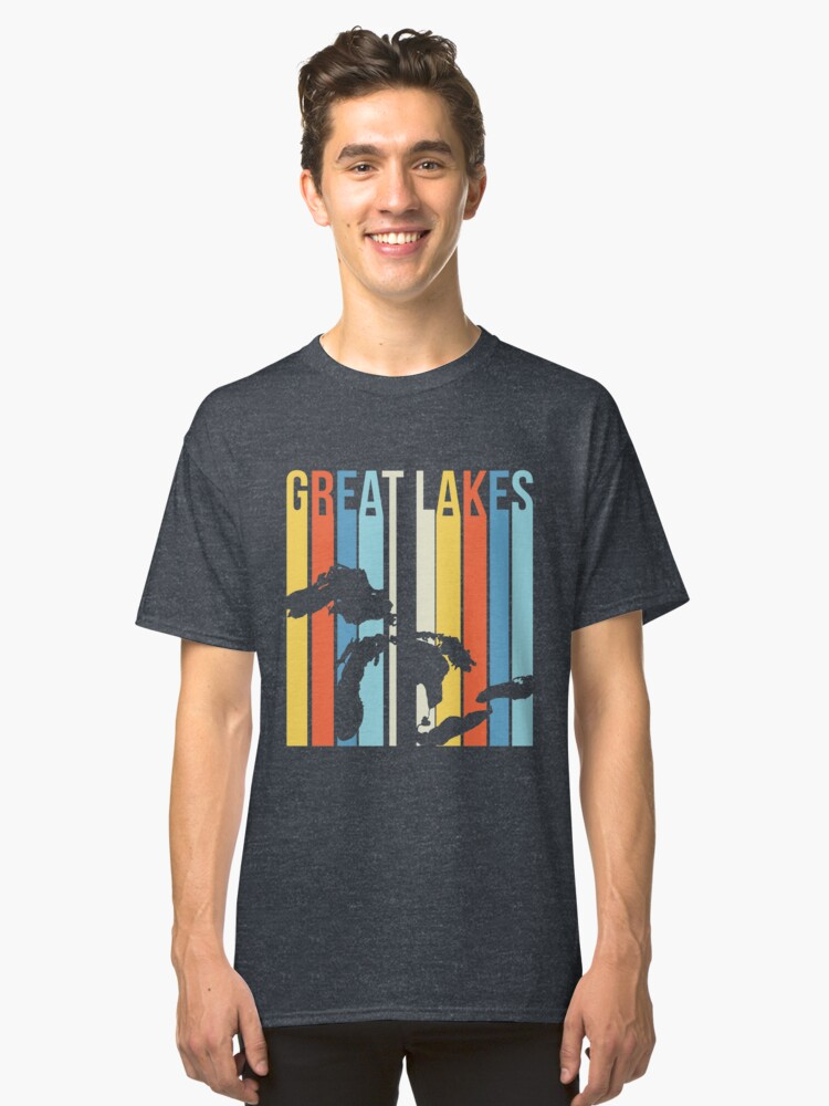 Retro Great Lakes Classic T-Shirt Front