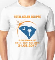 Total Solar Eclipse american columbia,south Carolina,sc 02:41 - 02:44 P.M. (EDT) T-Shirt