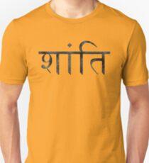 Shanti (Peace) Slim Fit T-Shirt
