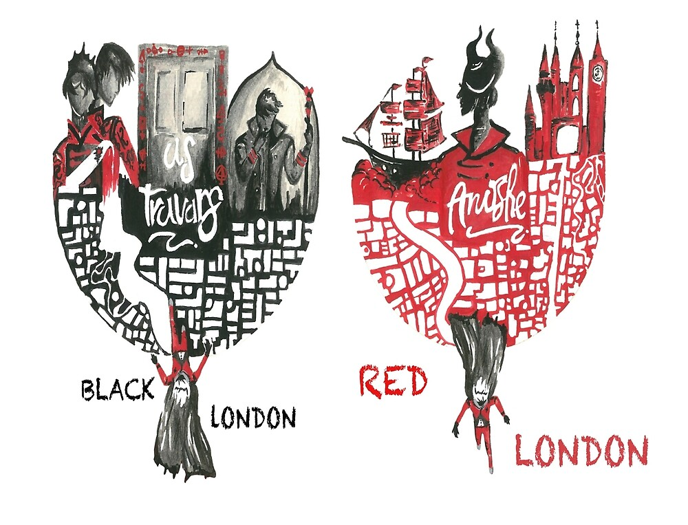 Red & Black London  by twinkle-canvas