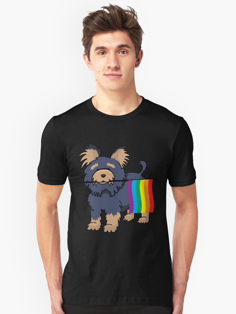 Gay Pride Yorkshire Terrier Shirt Unisex T-Shirt Front