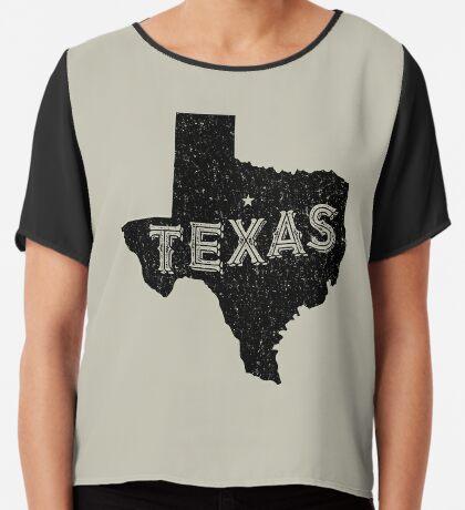 Texas State Shapes - Retro & Vintage Chiffon Top