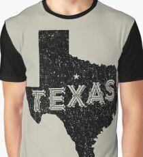 Texas State Shapes - Retro & Vintage Graphic T-Shirt