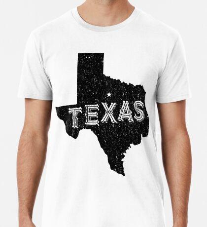 Texas State Shapes - Retro & Vintage Premium T-Shirt
