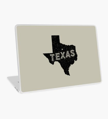 Texas State Shapes - Retro & Vintage Laptop Skin