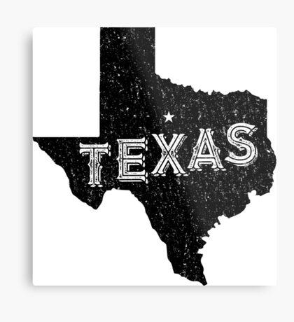 Texas State Shapes - Retro & Vintage Metal Print