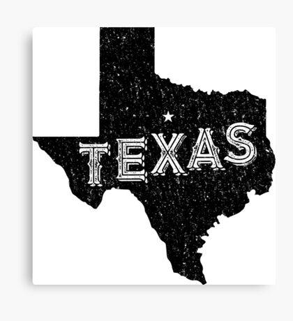 Texas State Shapes - Retro & Vintage Canvas Print