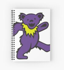 Grateful dead purple bear Spiral Notebook