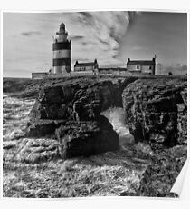 Stormy day at Hook Head Lighthouse  Poster
