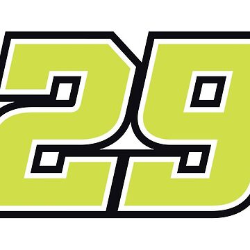 #29 Andrea Iannone MotoGP Rider Number by xEver