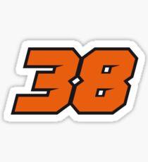 #38 Bradley Smith - MotoGP Rider Number Sticker