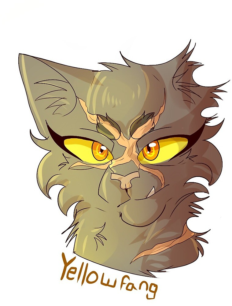 Warrior Cat Stickers- Yellowfang by WarriorCat3042