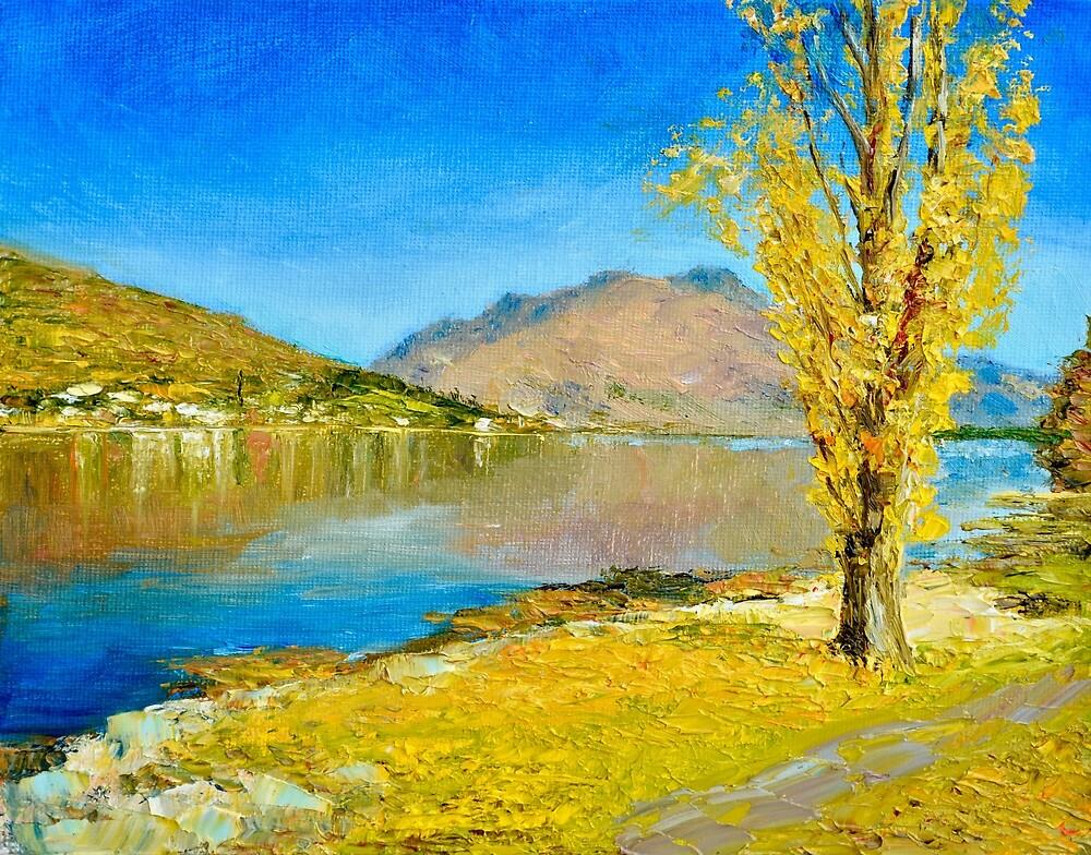 Lake Wakatipu Poplar in Autumn by Dai Wynn