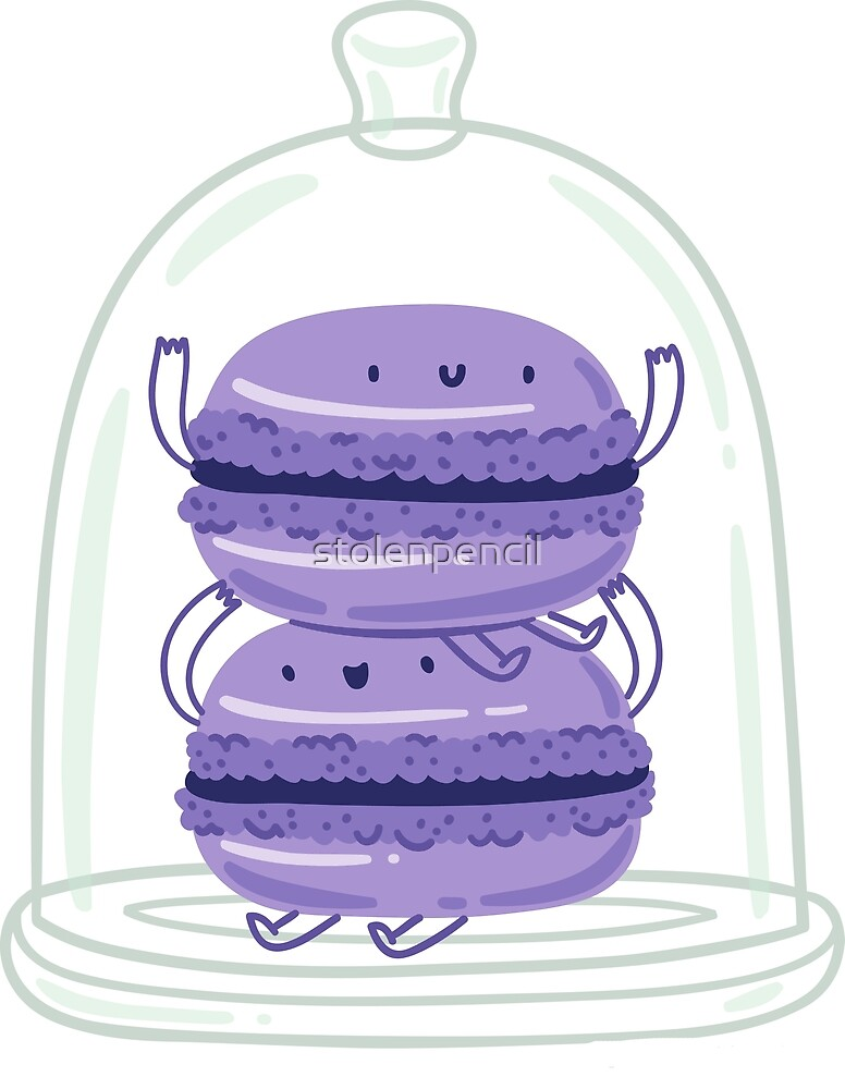 Violet macaroons by stolenpencil