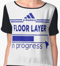 FLOOR LAYER Women's Chiffon Top