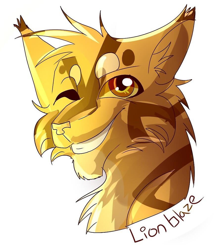 Warrior Cat Stickers- Lionblaze by WarriorCat3042