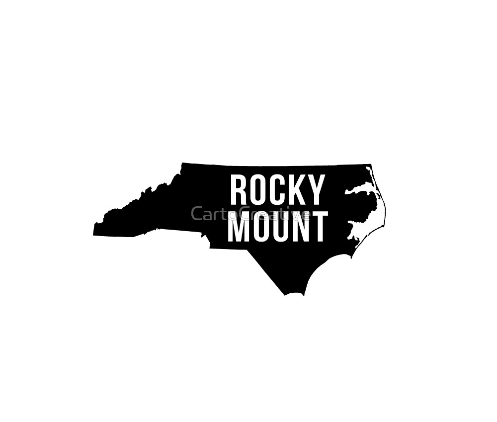 Rocky Mount, North Carolina Silhouette by CartoCreative