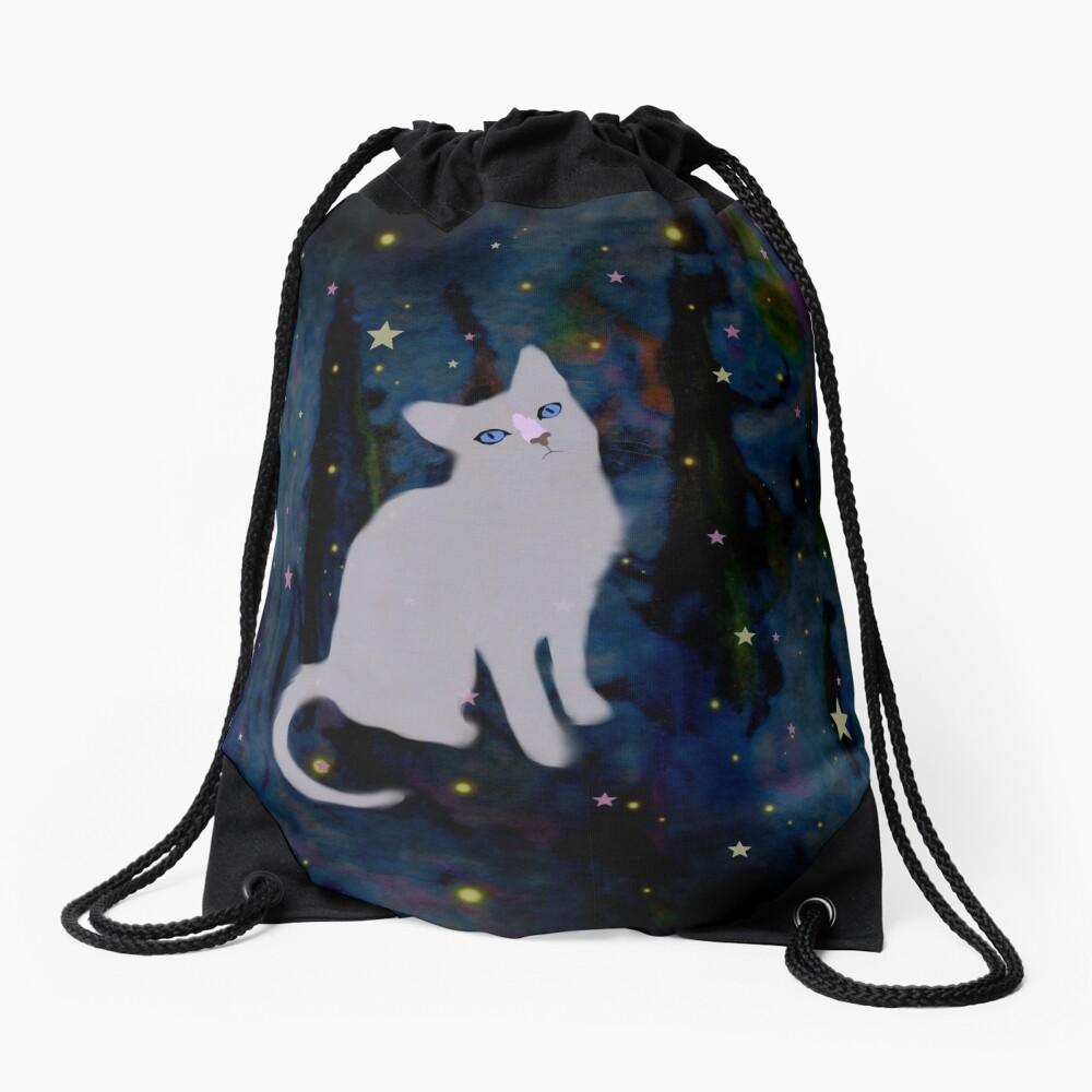 Forest cat Drawstring Bag