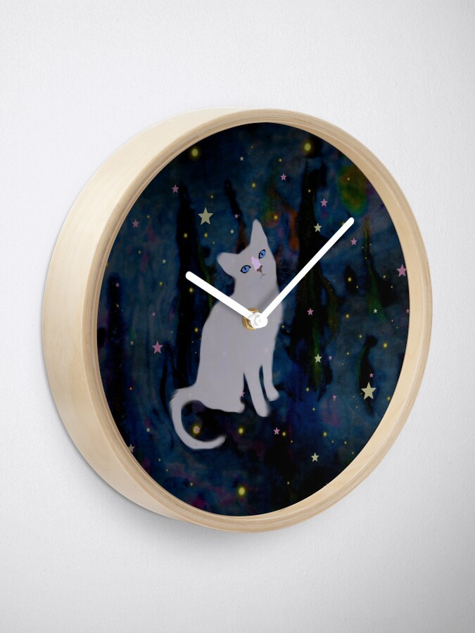 Alternate view of Forest cat Clock
