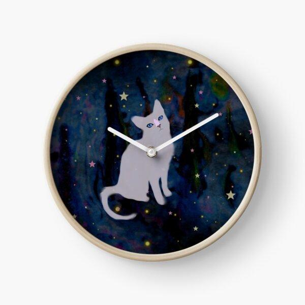 Forest cat Clock