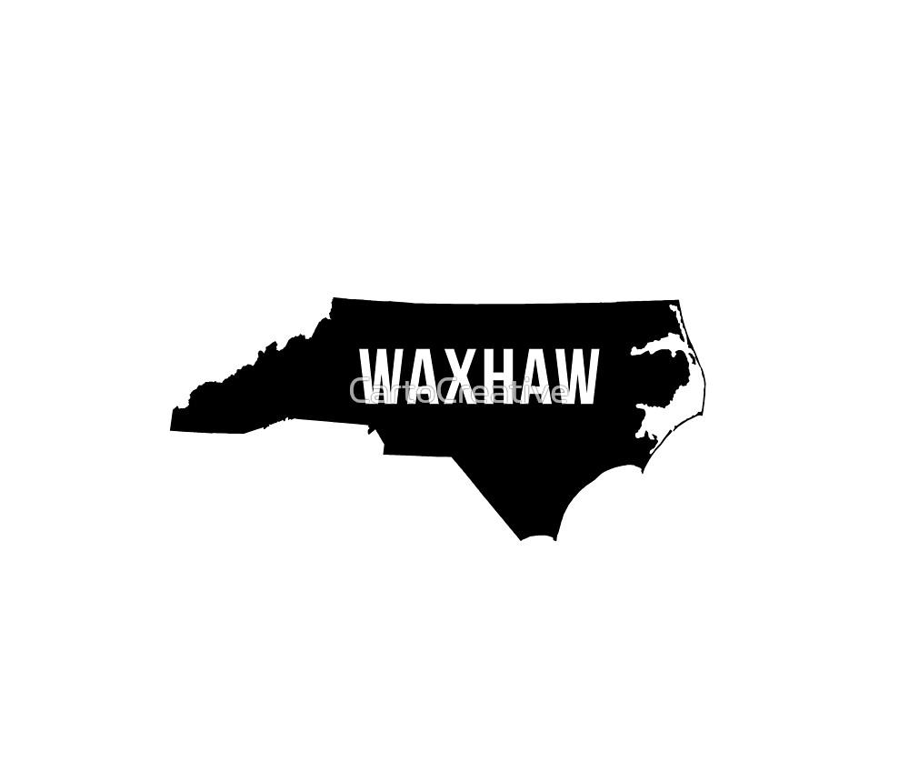 Waxhaw, North Carolina Silhouette by CartoCreative