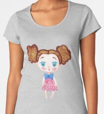 Little watercolor girl Women's Premium T-Shirt