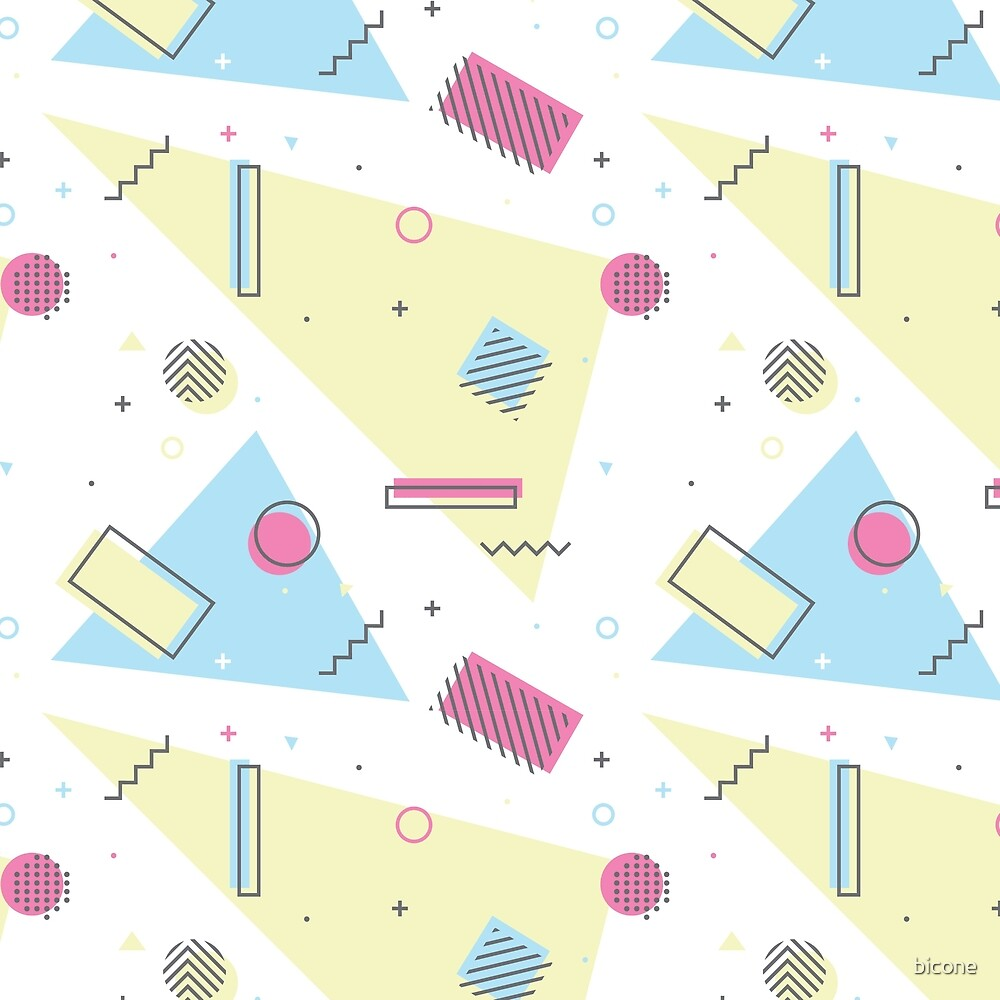 Retro Memphis Pattern Design by bicone