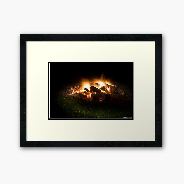 Painted Light Framed Art Print